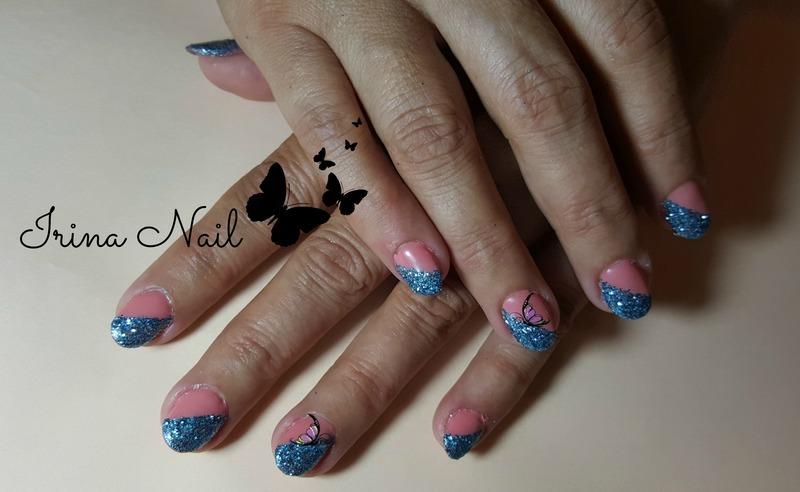 Glitter nails nail art by Irina Nail