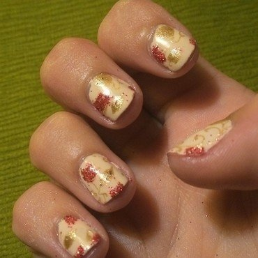 Fall Elegance nail art by Kristyna