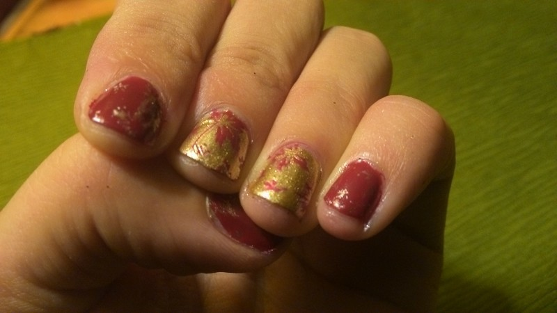 First Hints of Fall nail art by Kristyna