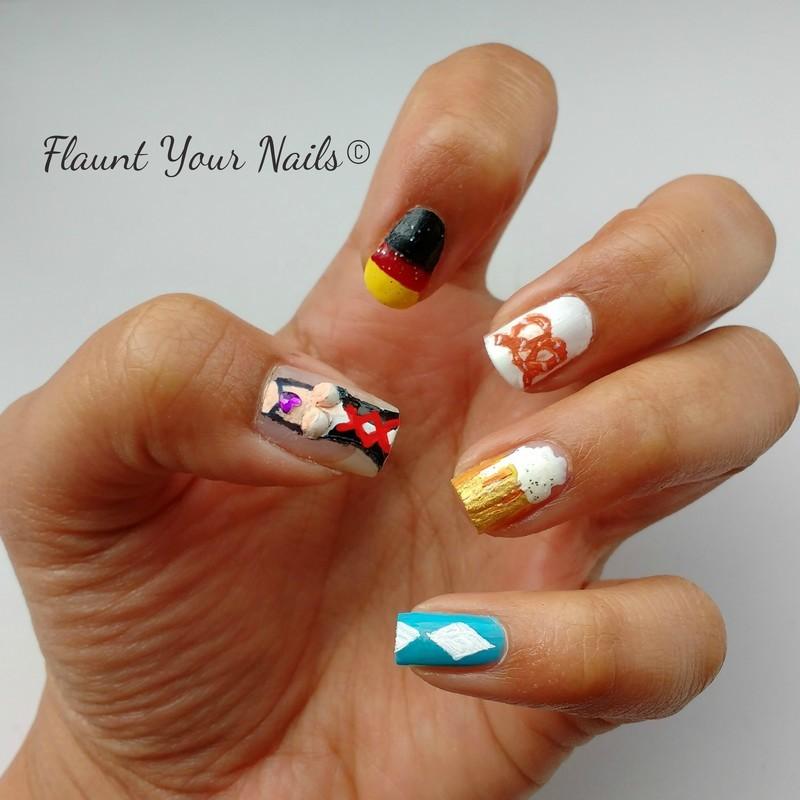 Oktoberfest Nails nail art by Vidula Kulkarni