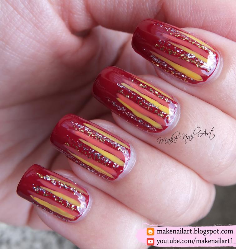 Autumn Waterfall Nail Art Design nail art by Make Nail Art