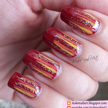 Autumn Waterfall Nail Art Design nail art by Make Nail Art