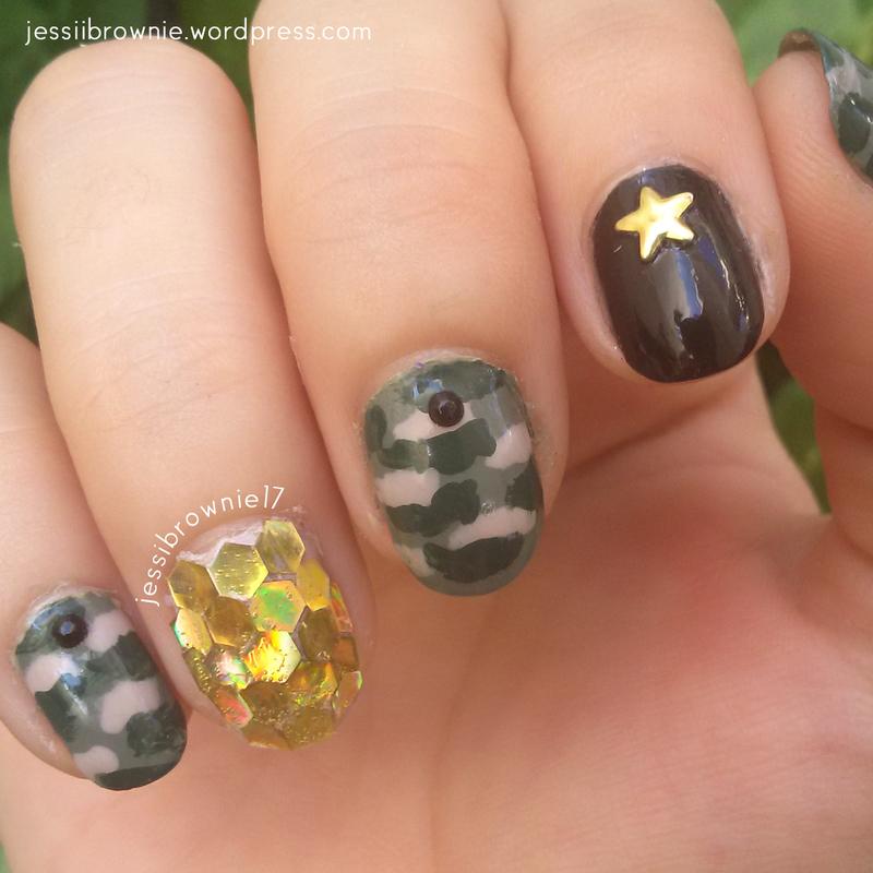 Camouflage Nail Art nail art by Jessi Brownie (Jessi)