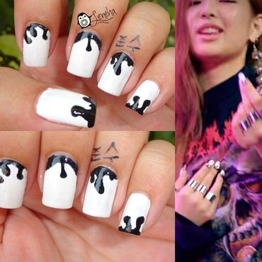 Halloween Monochrome Nails nail art by Leneha Junsu