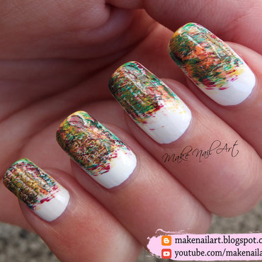 Autumn Dry Brush Technique Nail Art Design nail art by Make Nail Art