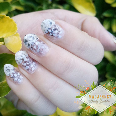 Black white floral stamping na thumb370f