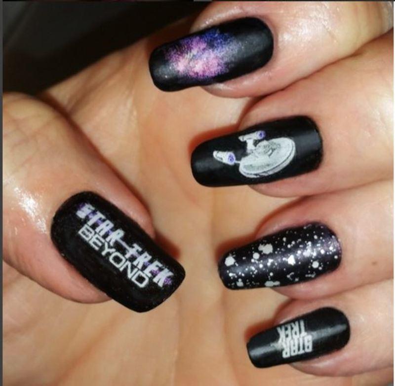 Star Trek and BEYOND nail art by Maureen Spaulding
