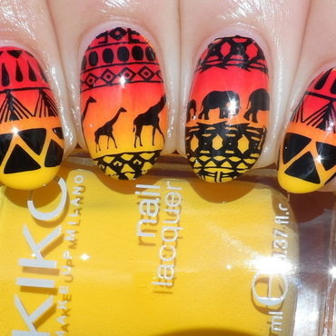 Africa nail art by Plenty of Colors