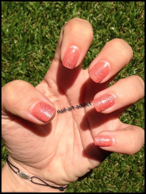 Nail Art : Dégradé Paillettes nail art by SowNails