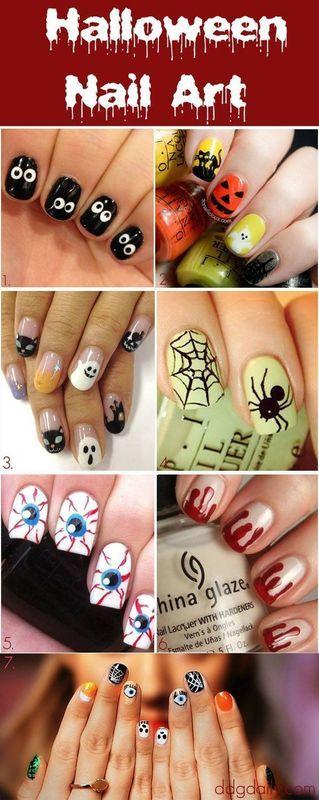 Fall nails nail art by Macie