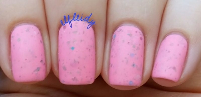 Wet 'n wild Matte Top Coat and KBShimmer Wear Me Wednesday Swatch by Jenette Maitland-Tomblin