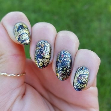 Burnished Boho nail art by Alisha Worth