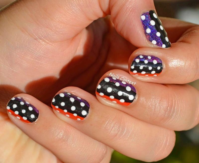 Fall Polka Dots  nail art by NailsContext