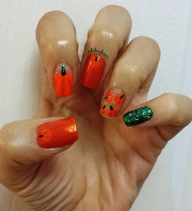 Pump, Pump, Pump-kin Up! nail art by chleda15