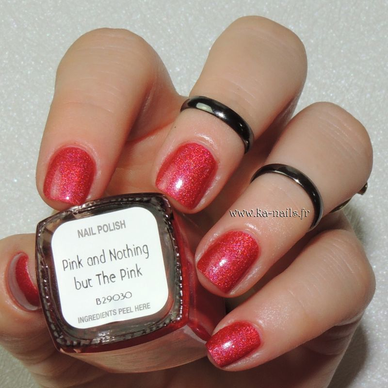 Il était un vernis Pink and nothing but the pink Swatch by Ka'Nails