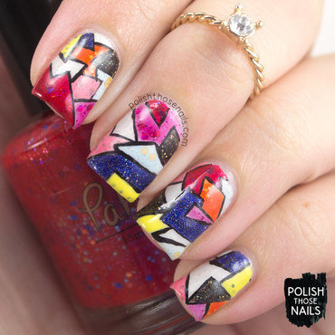 Christopher kane bright geometric fashion indie polish nail art 4 thumb370f