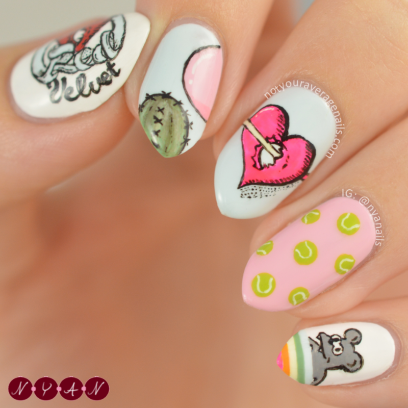 Russian Roulette Nail Art By Becca Nyanails Nailpolis Museum Of