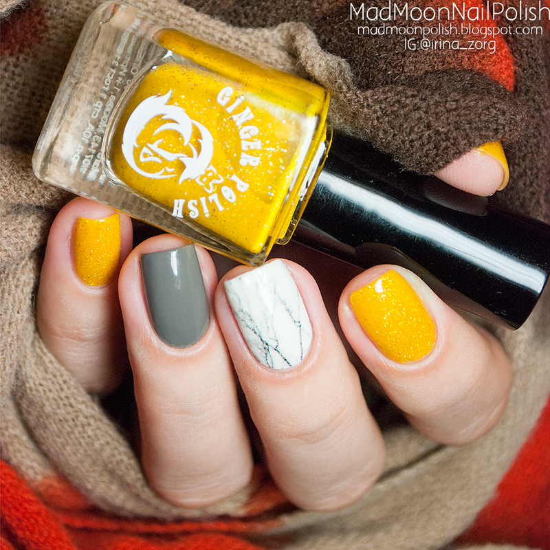Autumn manicure nail art by Irina Zorg