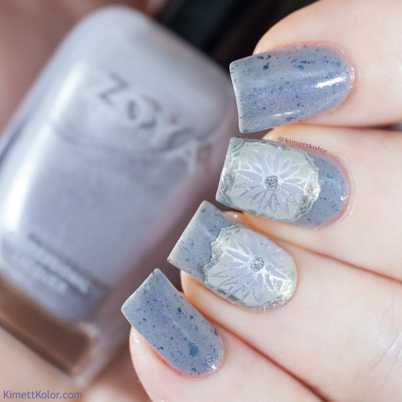 All Grey'd Out nail art by Kimett Kolor