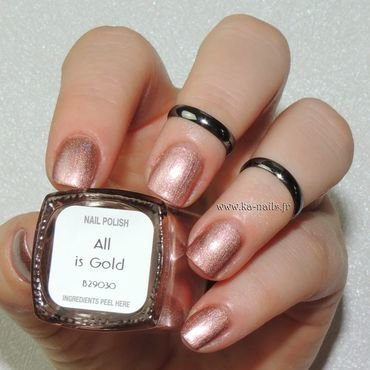 Il était un vernis All is Gold Swatch by Ka'Nails