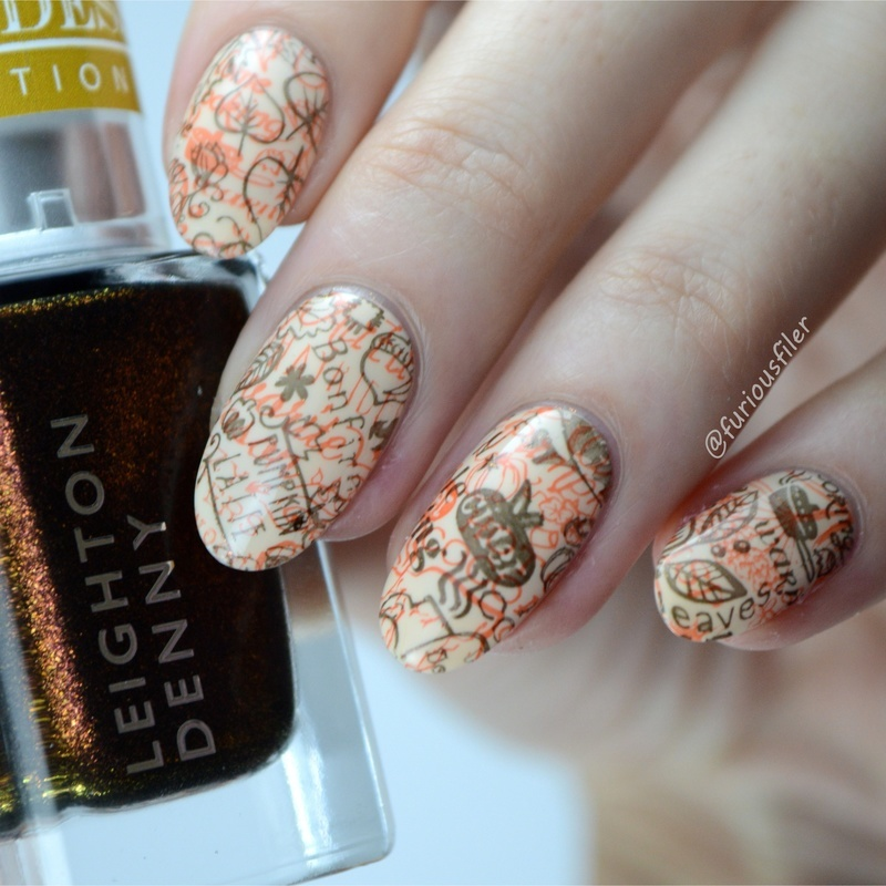 Double Stamping  nail art by Furious Filer