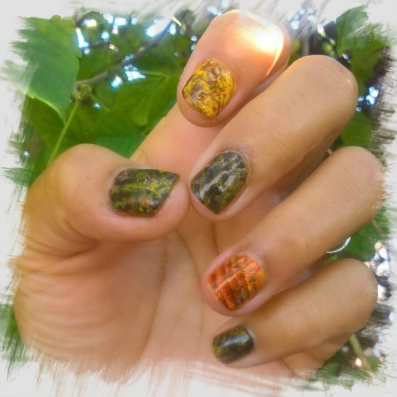 Autumn 🍂 colors for #fanbrushfriday  nail art by Avesur Europa