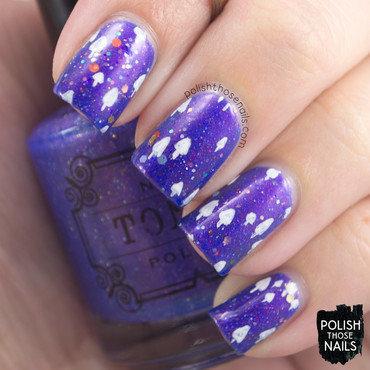 Purple shimmer glitter mushroom pattern nail art 4 thumb370f