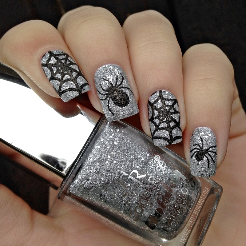 Spiders nail art by Sanela
