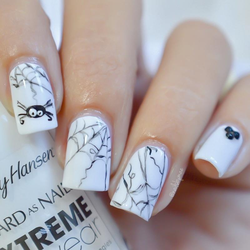 Spiders Web Nail Art nail art by Sheily (NailsByMae)