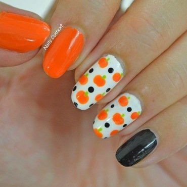 Pumpkins nail art by NailsContext