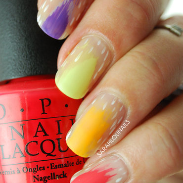 Matte Summer Brushstroke Nails! nail art by Sarah S