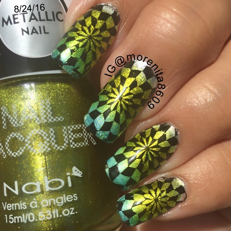 Metallic Nails nail art by Morenita  Morena