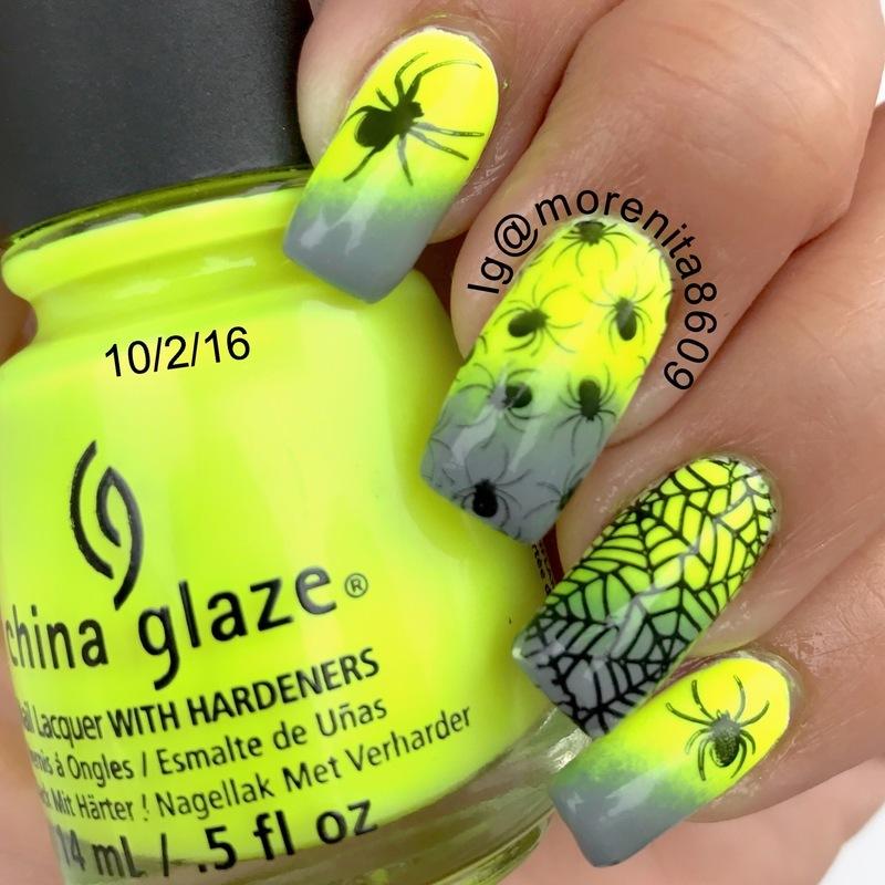 Spider Nails 💚🕷 nail art by Morenita  Morena