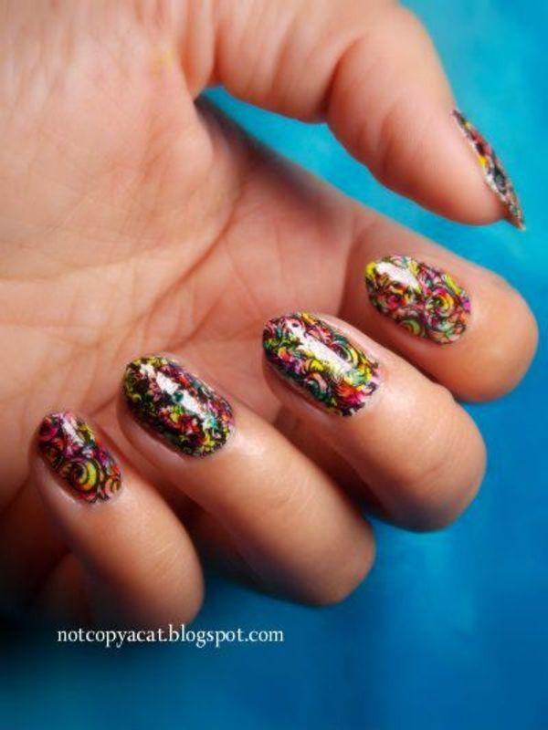 Folk nails nail art by notcopyacat
