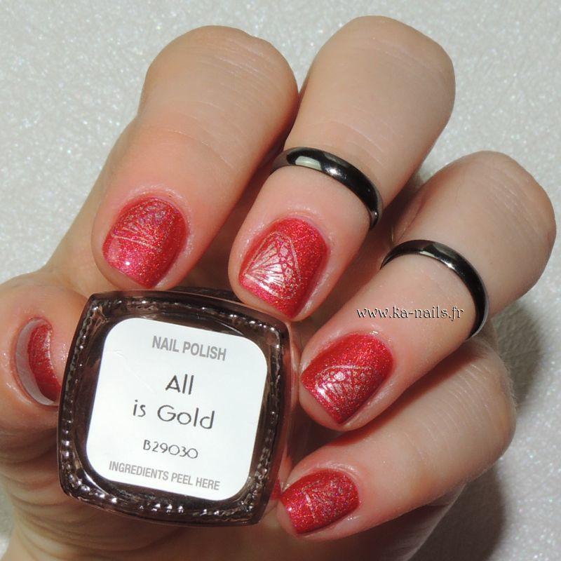 De l'Or au bout des Doigts #1 nail art by Ka'Nails