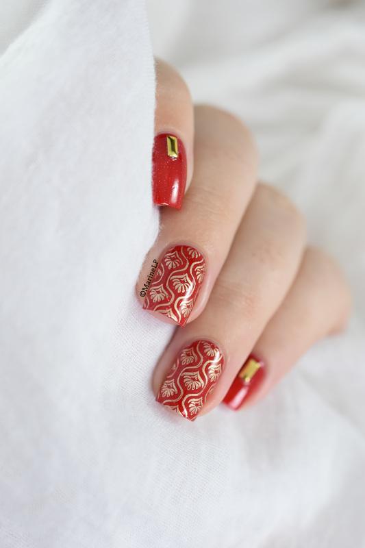 Baroque nail art nail art by Marine Loves Polish