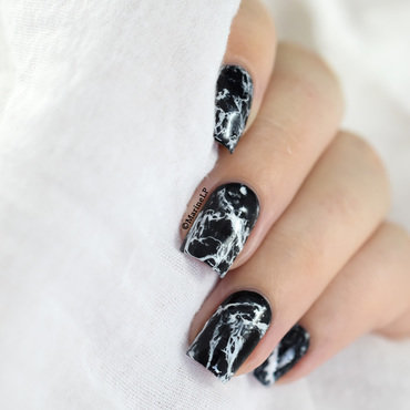 Black marble nails video tutorial 20 6  thumb370f