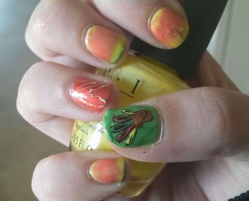 Season of Giving nail art by Kristyna