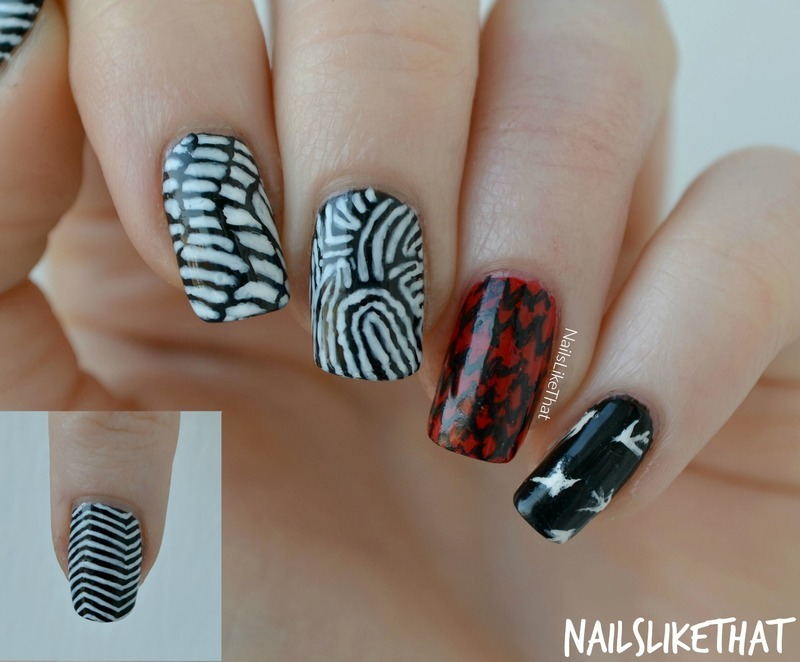 Blurryface nails nail art by Nicole M