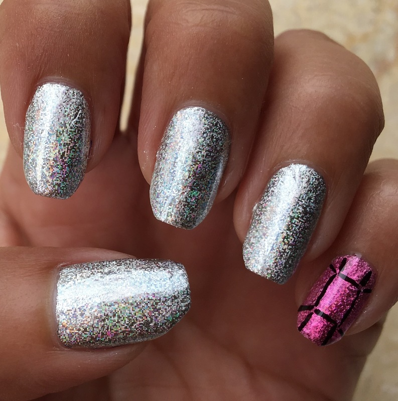holo foil nail art by Idreaminpolish