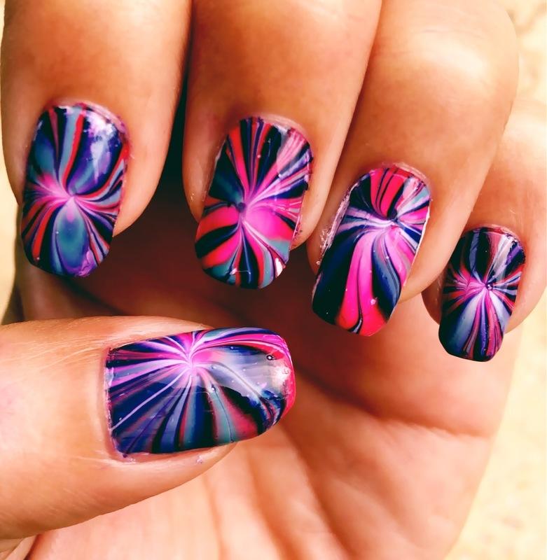 starburst nail art by Idreaminpolish
