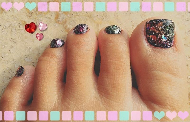 starry eyed nail art by Idreaminpolish