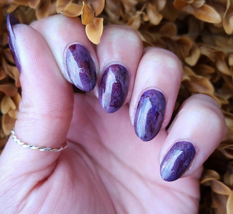 Mulled Wine nail art by Alisha Worth