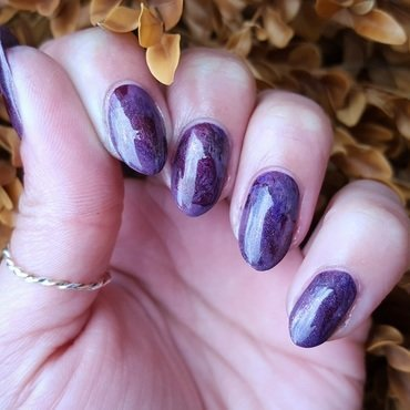 Mulled Wine nail art by Alisha Worth