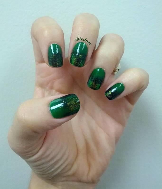 Emerald City nail art by chleda15