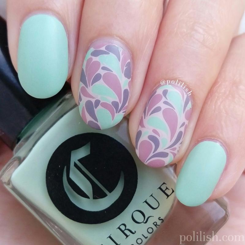 Retro nail art (reverse stamping) nail art by polilish