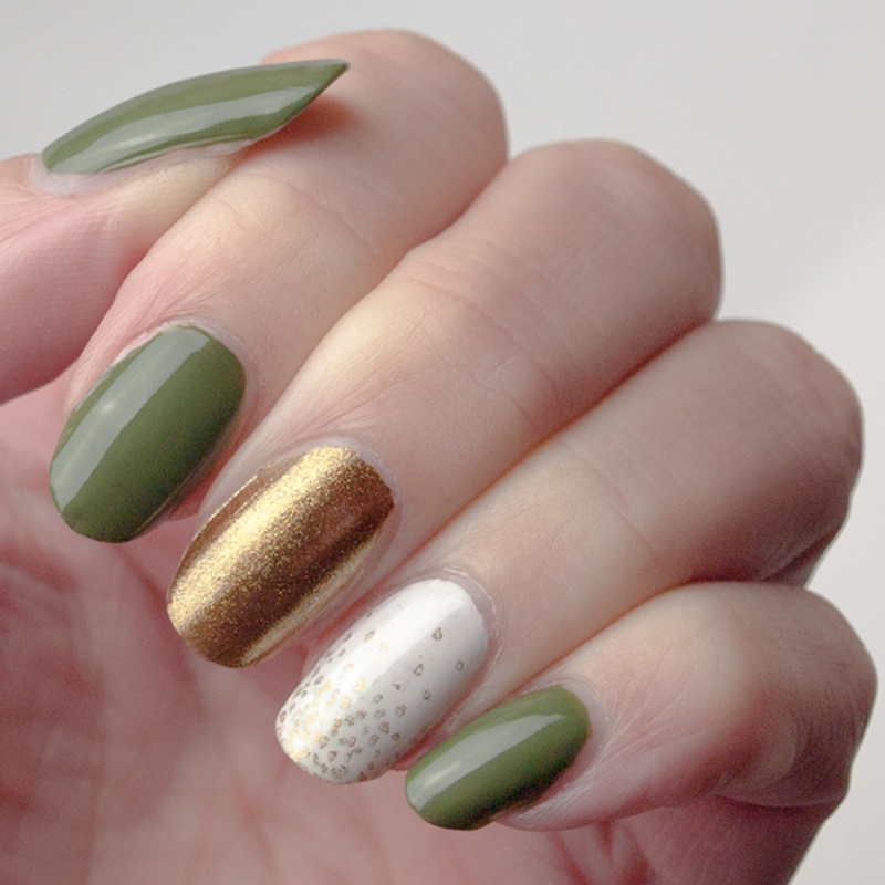 It's raining... leaves! nail art by What's on my nails today?