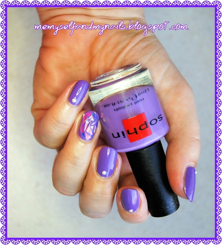 Purple mirrors nail art by ELIZA OK-W