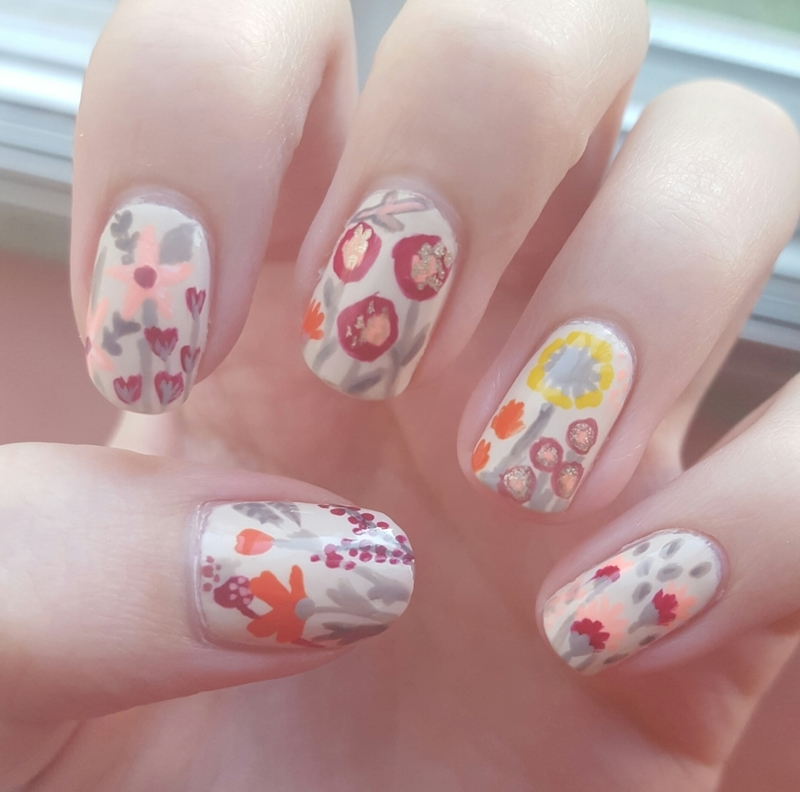Fall Floral nail art by Baylie
