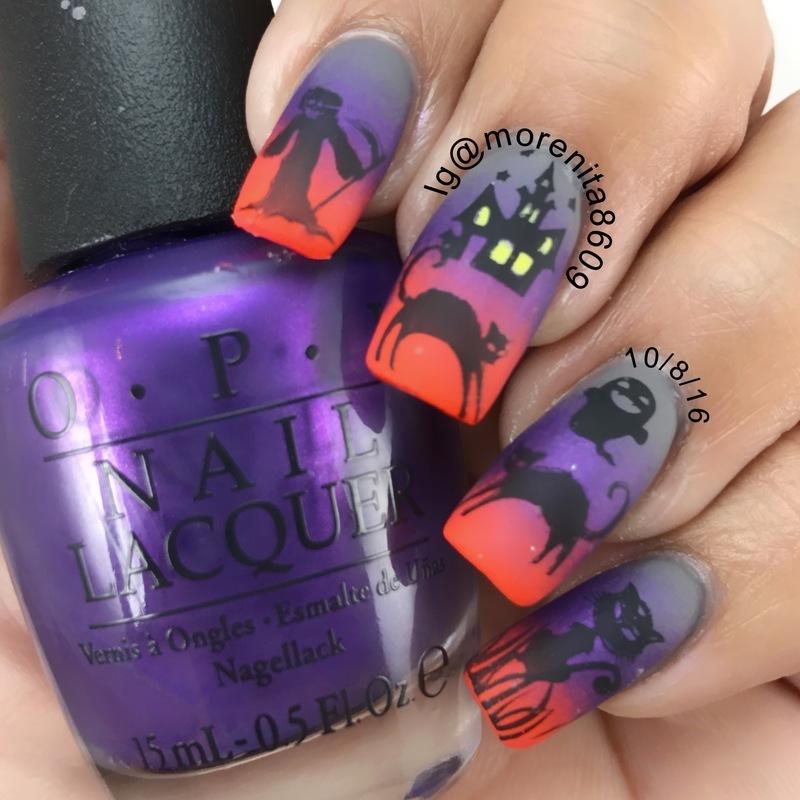 Black Cat Nails  nail art by Morenita  Morena
